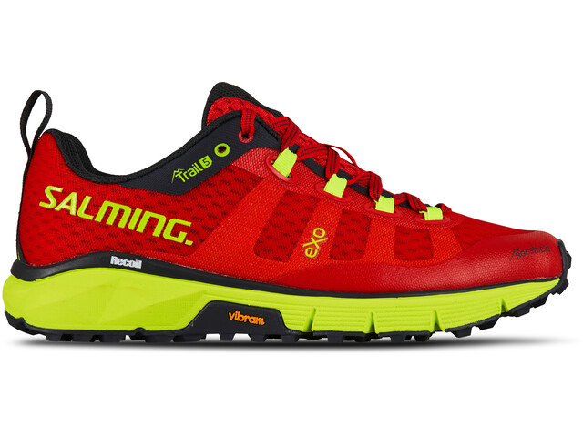 Salming Trail 5 Zapatillas Mujer, poppy red/safety yellow